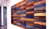 Donor Recognition Wall, American Folk Art Museum, Pentagram