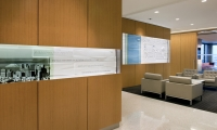 Panels through Room, Branded Environment, Confidential financial services client, Ayers Saint Gross