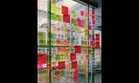 Colorful Plexiglas, Children's Museum of Pittsburgh, Pentagram