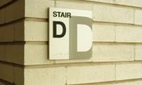 Stairs Signage, Crate & Barrel World Headquarters Signage, Calori & Vanden-Eynden/Design Consultants