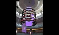 Catwalk Rings with video LEDs and Illuminated Panels, Dubai Mall Catwalk, Emaar, Square Peg Design
