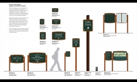 Wayfinding Signs, Fairmount Park Master Signage, Fairmount Park Commission, Center City District, Cloud Gehshan Associates