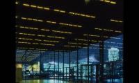 LED Displays on Ceiling, Neue Nationalgalerie, Jenny Holzer, Sunrise Systems
