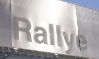 Light Reflecting off Mesh Sign, Rallye BMW Facade, HLW International LLP