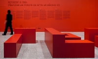 Close-up of Letters, Risking Reality, Berardo Collection Museum, R2 Design