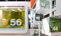Use of Numbers on Glass, Macquarie Bank Ltd. Headquarters, Macquarie Bank Ltd./Clive Wilkinson Architects, EGG Office