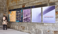 Changing Cultural Posters, Brooklyn Bridge Pedestrian Improvements, Dumbo Improvement District, emphasis design