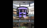 Catwalk Rings with video LEDs, Dubai Mall Catwalk, Emaar, Square Peg Design