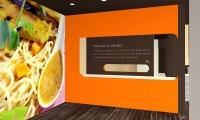 Wall Graphics, Forkchop Restaurant, James Tsai, Academy of Art University