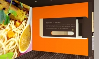 Wall Graphics, Forkchop Restaurant, James Tsai, Academy of Art University