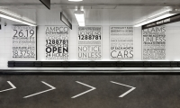 Wall Signs and Road Arrows, Parking at 13-17 East 54th Street, Cohen Bros. Realty, Pentagram