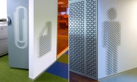 Pictograpms on Wall, Macquarie Bank Ltd. Headquarters, Macquarie Bank Ltd./Clive Wilkinson Architects, EGG Office