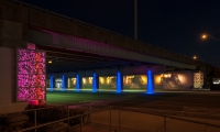Topping the client group's list of goals for the space was improving the level of illumination in the underpass.