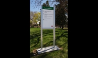 MCD's pedestrian signage at the University of Utah