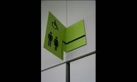 Bathroom Signage, Docks en Seine, Icade, Nicolas Vrignaud