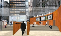 Ramp and Stairs, Downtown NYC: A Proposal for Lower Manhattan, Cassandra Tai-Marcellini, Pratt Institute