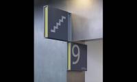 Stair Level Signage, Manchester Civil Justice Centre Signage, Emerystudio