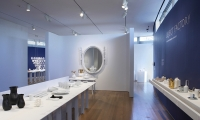 Exhibit Floor, Object Factory: The Art of Industrial Ceramics, Museum of Arts and Design, Wendy Evans Joseph Architecture