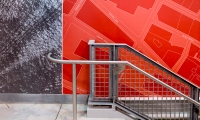 Wall Graphics, Temporary WTC Path Station, The Port Authority of New York and New Jersey, Pentagram