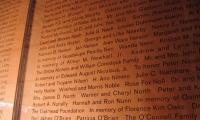Donor Wall Detail, de Young Museum, Fine Arts Museum of San Francisco, Debra Nichols Design