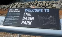 Welcome Interpretive Panel, Erie Basin Park, IKEA Corporation, Russell Design
