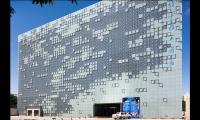 Daytime View of Exterior, GreenPix Zero Energy Media Wall, Jingya Corporation, Simone Giostra & Partners Architects