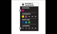 Signage, Halifax Transit Bus Map and Street Signage Redesign, Michelle Jospe, NSCAD University