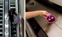 Pixel Icons on Escalator, IDSA Annual Meeting, Industrial Design Society of America, Ziba Design