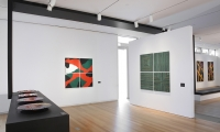 Exhibit Walls, Klaus Moje: Paintings in Glass, Museum of Arts and Design, Wendy Evans Joseph Architecture