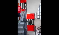 Stair graphics add energy and fun to the workplace.