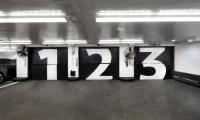 Garage Numbers, Parking at 13-17 East 54th Street, Cohen Bros. Realty, Pentagram