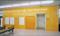 Orange Wall in Therapy Room, San-Ai Clinic Color and Signage Design, San-Ai Kai Medical Corp., MED