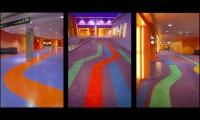 Floor Lines, Universal Studios AMC Cinema Graphics, Universal Studios Hollywood, Sussman/Prejza & Company