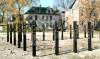 Wooden Posts, Work-Shift/Chicago, Community Architexts, Krivanek+Breaux/Art+Design