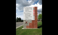 University of Utah wayfinding signage after the complete sign family and information design.