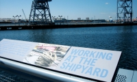 Working at the Shipyard Interpretive Panel, Erie Basin Park, IKEA Corporation, Russell Design
