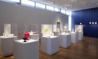 Glass Displays, Object Factory: The Art of Industrial Ceramics, Museum of Arts and Design, Wendy Evans Joseph Architecture