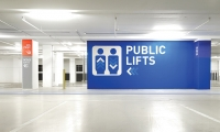 Public Lifts Graphic, World Square Carpark, Brookfield Multiplex, BrandCulture Communications