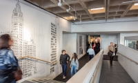 "Downstairs from ""Building Tall,"" in the more intimate space of the Chicago gallery, visitors can explore how architecture has shaped Chicago specifically."