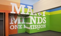 Motivational Slogan on Wall, Achievement First Endeavor Middle School, Achievement First, Pentagram