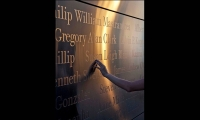 Detail of Typography, Empty Sky: The New Jersey 9/11 Memorial, State of New Jersey Department of Treasury, Frederic Schwartz Architects