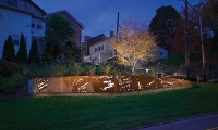 Night View, Monastery Street Park, South Side Slopes Neighborhood Association, Loysen + Kreuthmeier Architects