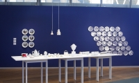Table and Wall, Object Factory: The Art of Industrial Ceramics, Museum of Arts and Design, Wendy Evans Joseph Architecture