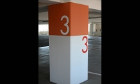Parking Level Identification, Santa Monica Civic Center Parking Structure Signage, Forest City Residential West, Electroland, LLC