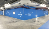 Parking Garage Arrows and Walls, Water Formula, EPAL (Portuguese Water Company), P-06 Atelier