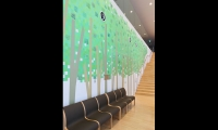Gallery hall graphics - 16 feet high and 33 feet in width Printed wallpaper.