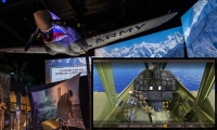 The Flyboys cockpit viewer enables visitors to explore 360 degree views of historic warplanes suspended above the kiosk.