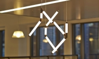 Design development for the sculptural light elements was done by Arup Lighting. Nocturnal Lighting fabricated the lights.