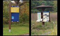 Park ID and park information kiosk for Scenic Hudson Parks, NY (Two Twelve)