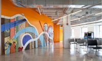 Gensler worked with the Chicago Artists Coalition to commission the murals.